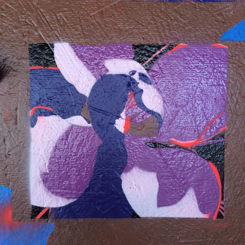 Little Orchid in Violet Blue