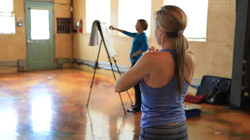 Saraswati Living Arts Project at The Shop in Park City with yoga instructor Tiffany Wood.