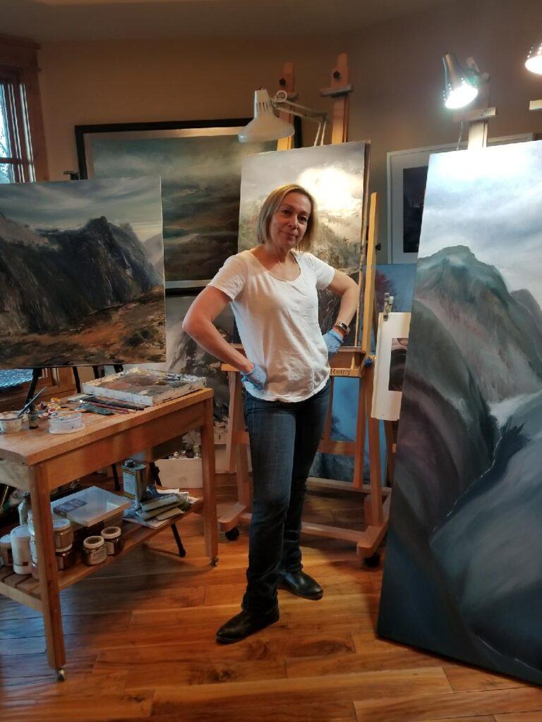 Cynthia McLoughlin in her Park City Studio.