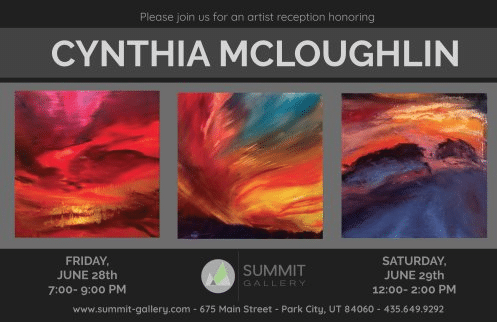 Paintings by artist Cynthia McLoughlin