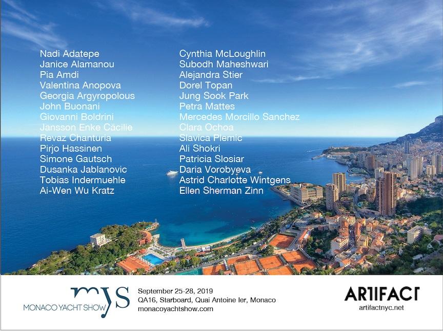Monaco Yacht Show Postcard, 2019