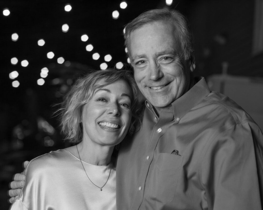 Photo of artist Cynthia McLoughlin and her significant other, Tom.