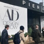 People entering the AD Design Show on Pier 94 in NYC, 2019