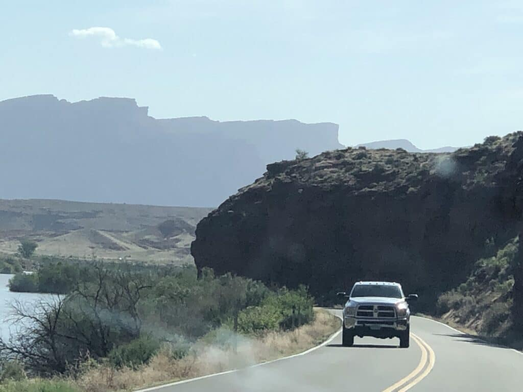 Inspirational photo of Moab on the way to Fisher Towers Hiking trail.