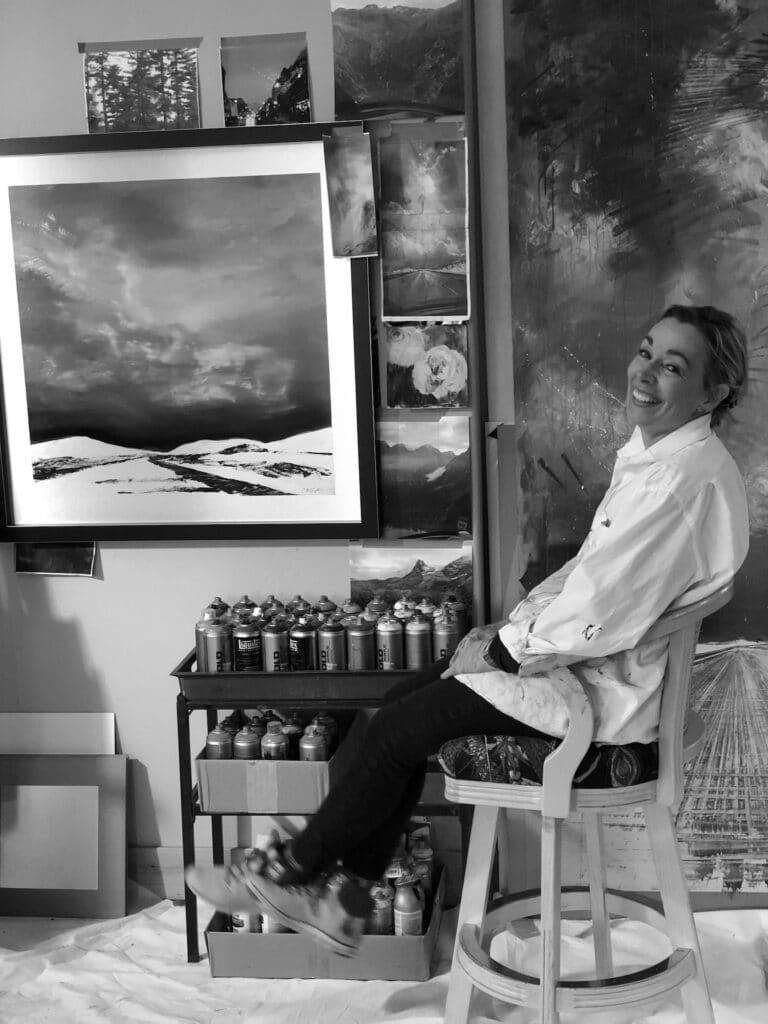 Cynthia McLoughlin in her studio.