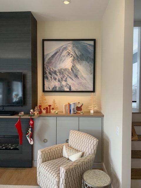 Snowbird Melting, Contemporary oil painting on metal of the dramatic ridge-lines at Snowbird Ski Resort, Fine Art by Cynthia McLoughlin