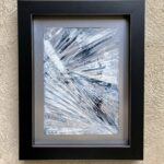 Frost, Contemporary oil painting on metal, abstract art of window frost on icy morning, Fine Art by Cynthia McLoughlin