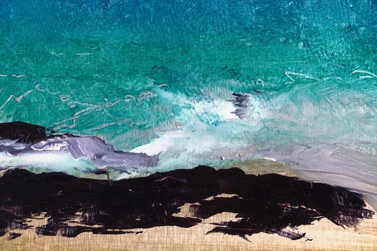 Jellyfish Sky - Oil Painting - Cynthia McLoughlin