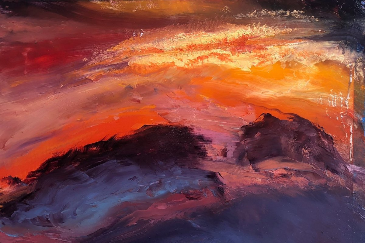 LA Sky - Storm Painting - Cynthia McLoughlin