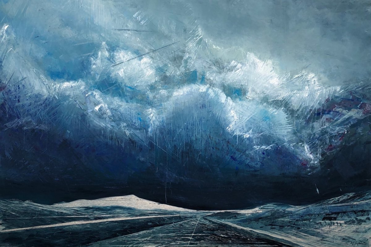 Through the Storm - Mountainscape Oil Painting - Cynthia McLoughlin