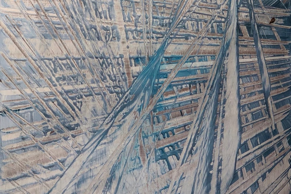 Twisted Web - Abstract Oil Paining - Cynthia McLoughlin